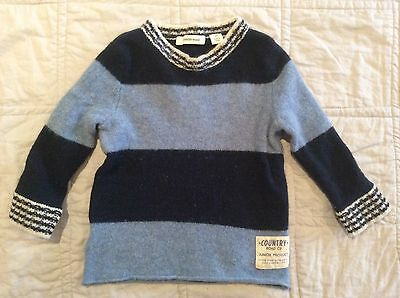 Boy Country Road Wool Jumper Size 2