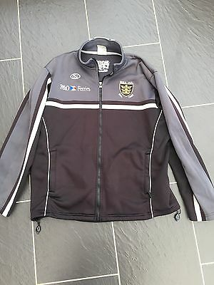 Hull Fc Black & White Rugby Jacket Size M Medium