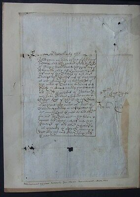 Exchequer Document 1666 Loan Repayment London Merchant