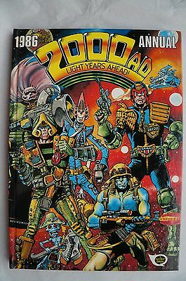 Vintage 2000 AD 1986 Annual - UK Annual - Judge Dredd Book - 30 Years Old