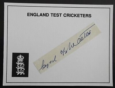 Cyril Walters, England Test Player, Hand Signed Signature.