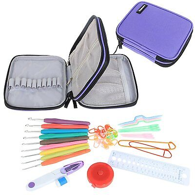 Damero Ergonomic Crochet Hook Set - with Organiser Case and Complet/ Accessories