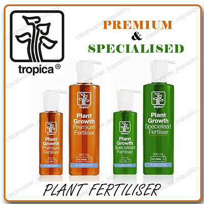 TROPICA Specialised Premium Liquid FERTILISER Planted Aquarium Plants AQUASCAPE