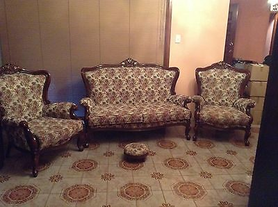 Antique Style fully reupholstered Lounge 4 piece