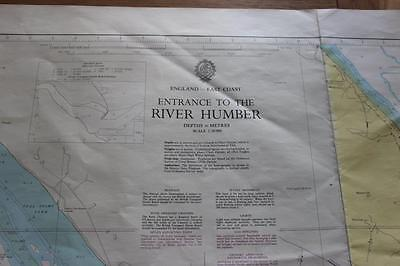 "A Navigational Chart Entrance To River Humber 1980 1:50 000  Size 42"" * 27.5"""