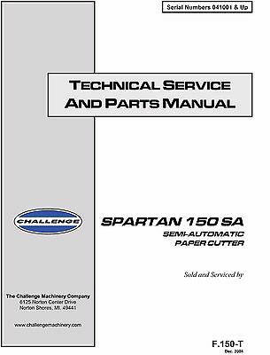 Challenge Spartan 150SA Technical Service and parts Manual (001)