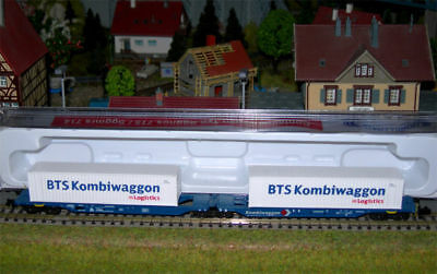 HOBBYTRAIN CARRO DOPPIO CONTAINER MAGNETICI art. H23700 AS NEU MIT OVP