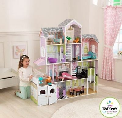 Large Dolls Doll Play House Furniture Big Girls Kids Houses Childrens Dollhouse