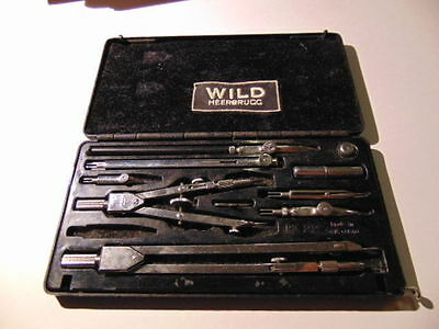 Set Of Compasses Wild Heerbrugg Rz22 Precision Technical Drawing Instruments