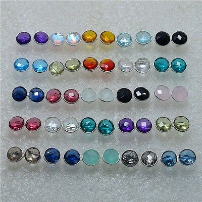 925 Solid Sterling Silver Wholesale 25Pair Iolite & Mix Stone Stud Earring Lot
