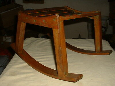 Nice Vintage Shabby Chic Wooden Rocking Footstool