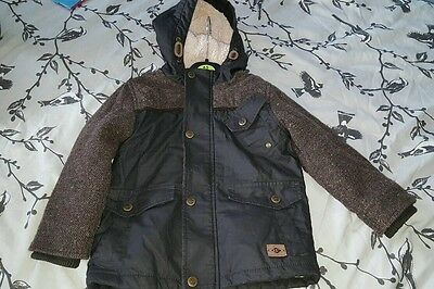 Boys next 3-4 years coat, wax parka with hood and lined