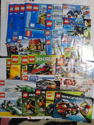 LOT 30x mixed variety LEGO INSTRUCTION BOOKLETs manuals guides directions books