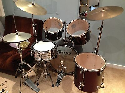 Stagg Tim 5 piece Drum Kit with Improved Snare.