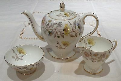 Foley Somerset By Donald Brindley - Teapot, Creamer, Sugar - Excellent Condition