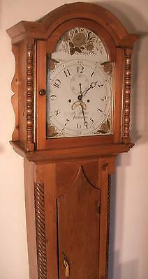 "Antique Pine "" Folkstone""  8 Day Longcase /grandfather Clock"