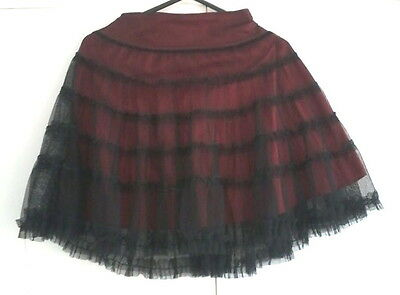 Age 5-6 George red & black party skirt