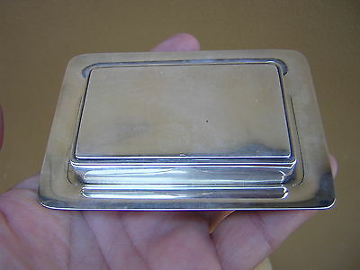 Rare Antique Vintage Japanese Silver Bonbonniere Sterling Silver Box + Tray