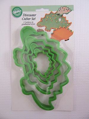 WILTON Dinosaur Set of 4 graduated Cookie Cutters 2303-190 (1994)