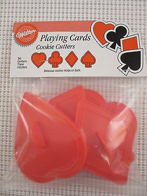WILTON Playing Cards Set of 4 cookie cutters (1990) 2304-1512