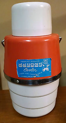 Vintage MASCOT Fiberglass Insulated Cooler Atlas Glass Mason water jug thermos