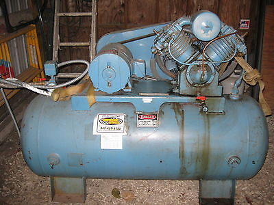 10 Hp Duel Stage 3 Phase V Compressor  120 Gallon Ten Horse Power  (Kellogg ?)