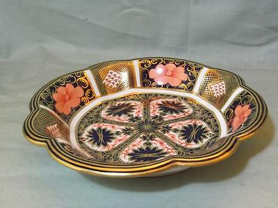 "Royal Crown Derby Round Fluted Dish 7"" Old Imari Pattern 1128"