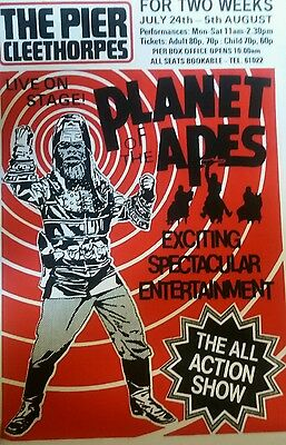 Planet of the Apes REPRODUCTION Poster UK Stage show 1978 Size A2 on CARD