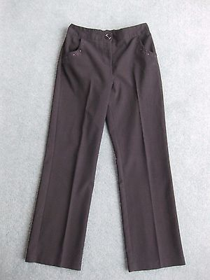 Girls black embroidered school uniform trousers age 10 - 11 years