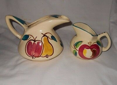 Vintage Purinton Pitcher And Kent Jug       Lot Of 2 Pieces       See Condition
