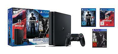 PlayStation 4 - Konsole 1TB slim inkl. Uncharted 4 + Driveclub + The Last of Us