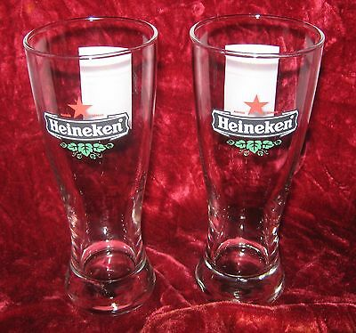 1 - Lot of 2 Heineken Moscow 2008 Champions League Final Beer Glasses (2016-321)