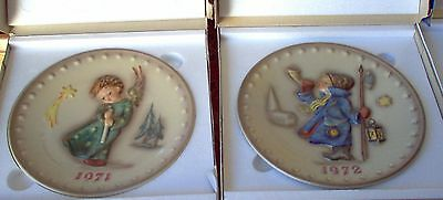 Hummel Collector Plate Series 1971-1979 - With Boxes