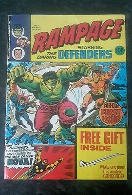 rampage comic starring the defenders number 1 Oct 19 1977