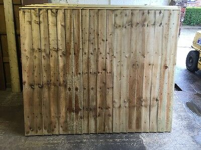 heavy duty feather edge fence panels tanalised green