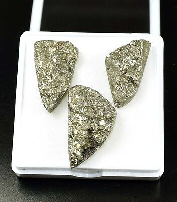 Exclusive  !  87.25  Cts. 100 %  Natural Pyrite  Fancy Cab For Silver Pendant
