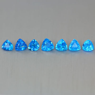 0.940 Ct 100% Natural Very Rare Hauyne Hue Color Apatite!! Rare To Find!!4-Pcs