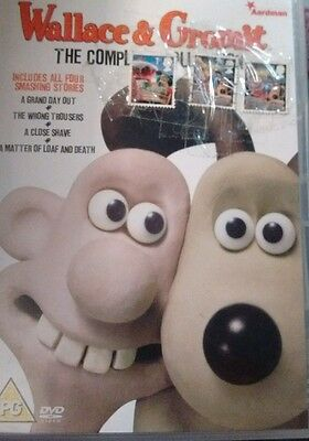 wallace and gromit dvd collection and collectable stamps