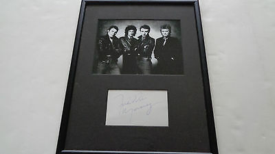Queen Freddie Mercury Autograph Signed Page....a Great Signature