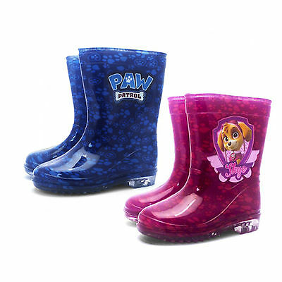 Kids Character Paw Patrol Boys & Girls Wellies Boots Brand New