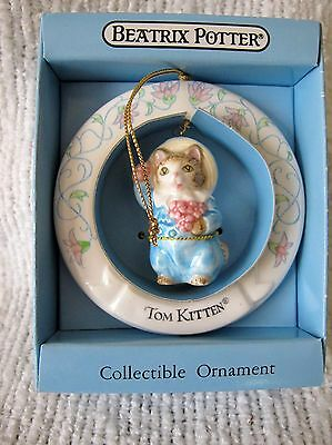 1988 Schmid Beatrix Potter Tom Kitten  Collectible Ornament  NIB