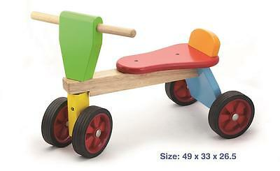 Viga Colourful Wooden Tiny Trike - Kids/Children's Ride-on Toy