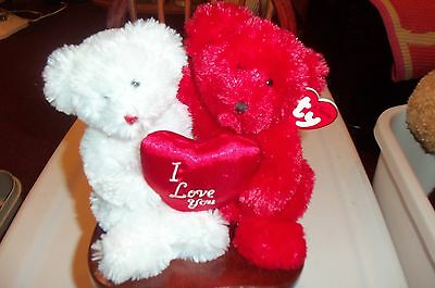 TY Classic Plush - TRULY YOURS the Bears (both together) (9.5 inch) - MWMT's