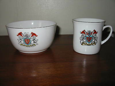 Two Crested Items For Hereford,  Mug  & Bowl .........priced To Clear