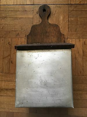 vintage french large wooden salt box container kitchenalia shabby chic rustic