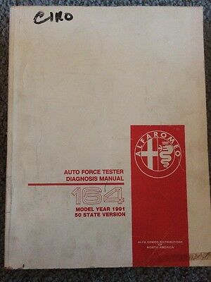 Alpha Romeo Auto  Force Tester Diagnosis Manual 164 Year 1991 50 State Version