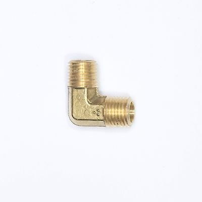 "Male ELBOW 1/4"" Male NPT MPT Brass Vacuum, Fuel, Air, Water, Oil, Gas Pipe"