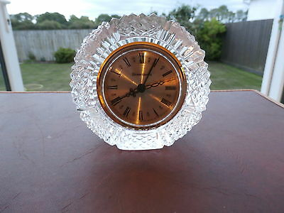 """Tyrone Crystal """"DRUMREAGH"""" Paperweight Clock"""