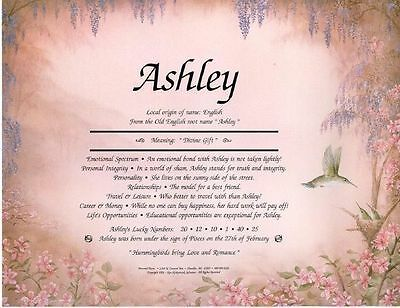 Hummingbird Personalized Name Meaning Print