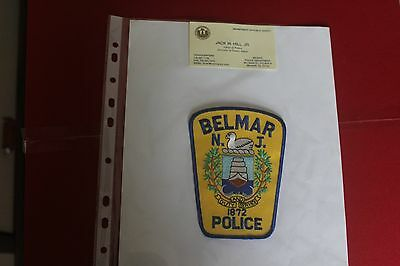 Shoulder Patch from Belmar Police Department New Jersey